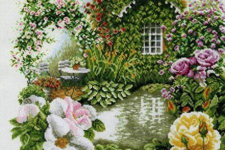 Vyšívání – domy a zahrady